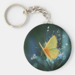 butterflies colours of rainbow basic round button keychain