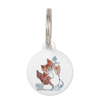 Butterflies Come Out after the Rain & Tiger Kitten Pet Tag