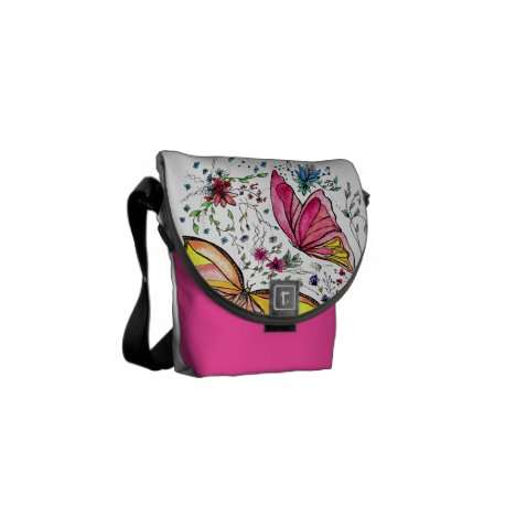 Butterflies Courier Bag