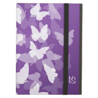 Butterflies Custom Initials Purple iPad Folio Cases