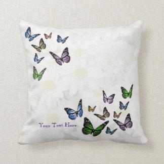 Butterflies & Daisies Grade A Cotton Throw Pillow
