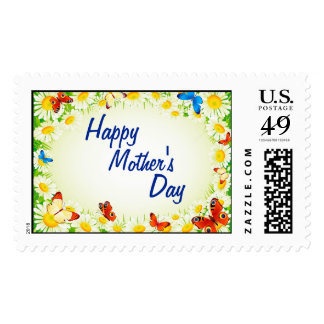 Butterflies & Daisies Happy Mother's Day Stamps
