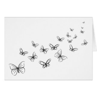 Butterflies Dancing Across the Page Card