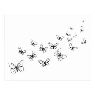 Butterflies Dancing Across the Page Postcard