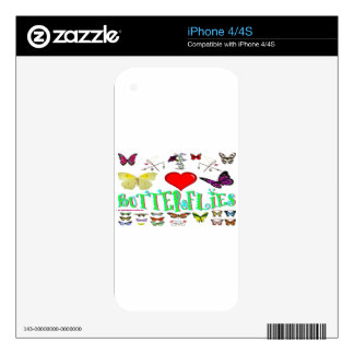 Butterflies Decals For The iPhone 4S