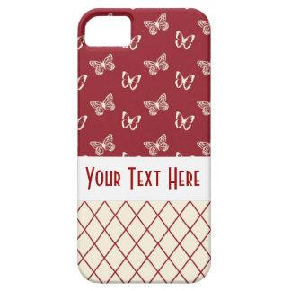 Butterflies & Diamond Lattice Pattern iPhone SE/5/5s Case
