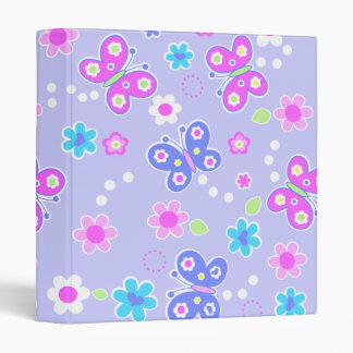 butterflies dots 3 ring binder