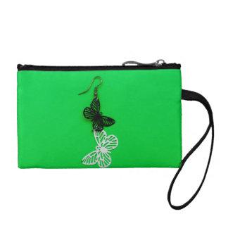 Butterflies earring coin purse
