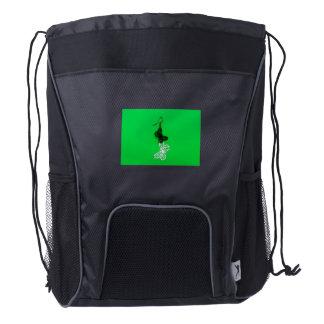 Butterflies earring drawstring backpack