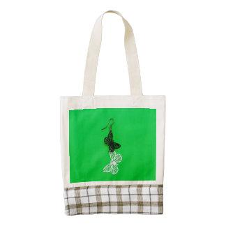 Butterflies earring zazzle HEART tote bag