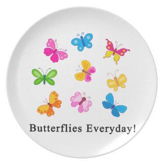 Butterflies everyday dinner plate