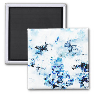 Butterflies Everywhere 2 Inch Square Magnet