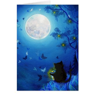 Butterflies & Fairy Lanterns Card