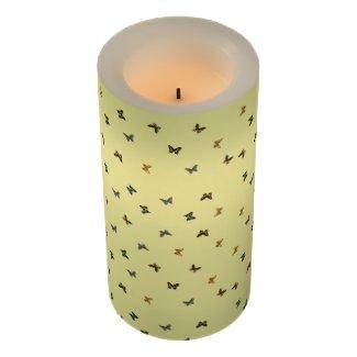 Butterflies Flameless Candle