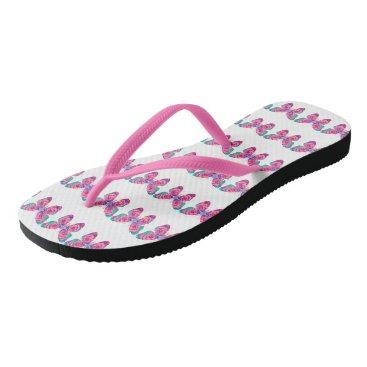 Beach Themed Butterflies Flip Flops