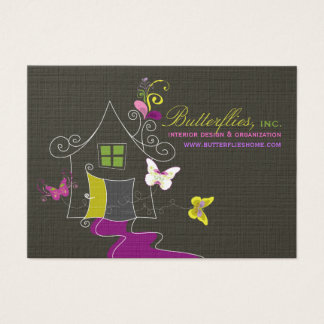 Butterflies Floral House Home Modern Profile Card