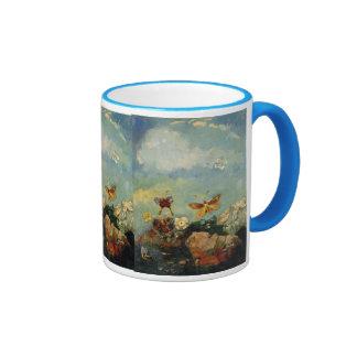 Butterflies flowers 1910 Odilon Redon Art Love Ringer Coffee Mug