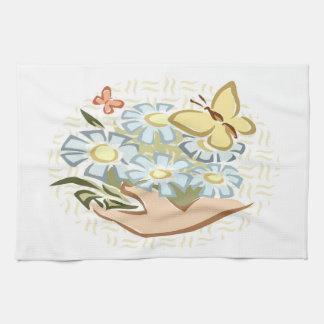 Butterflies & Flowers - American MoJo Kitchen Towe Hand Towel