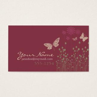 Butterflies & Flowers Business Card