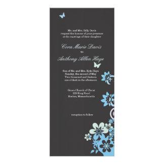 Butterflies & Flowers Custom Announcement