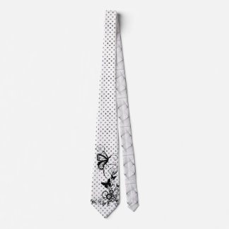 Butterflies & Flowers dotted Necktie