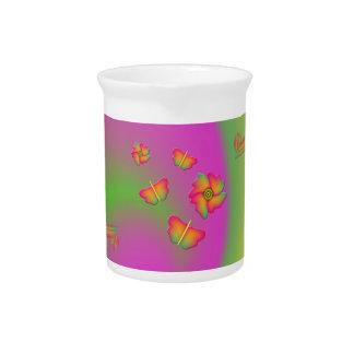Butterflies & Flowers Drink Pitcher