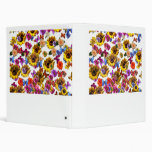 Butterflies & Flowers Full Coverage Graphic 3 Ring Binders