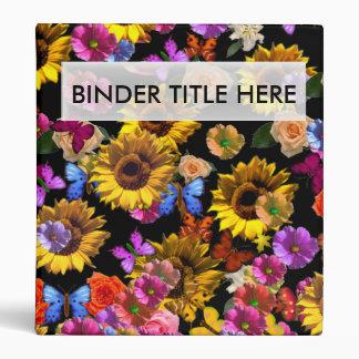 Butterflies & Flowers Full Coverage Graphic Binders