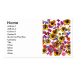 Butterflies & Flowers Full Coverage Graphic Business Card Template