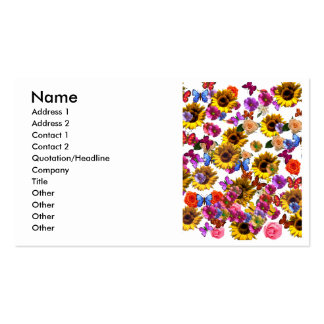 Butterflies & Flowers Full Coverage Graphic Double-Sided Standard Business Cards (Pack Of 100)