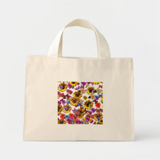 Butterflies & Flowers Full Coverage Graphic Mini Tote Bag
