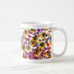 Butterflies & Flowers Full Coverage Graphic Coffee Mugs
