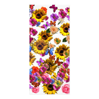 Butterflies & Flowers Full Coverage Graphic Rack Card