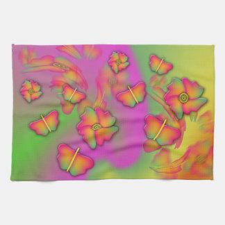 Butterflies & Flowers Hand Towel