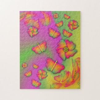 Butterflies & Flowers Jigsaw Puzzle