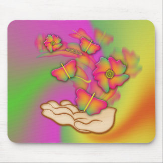 Butterflies & Flowers Mouse Pads