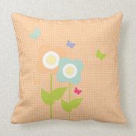 Butterflies & Flowers Pillow