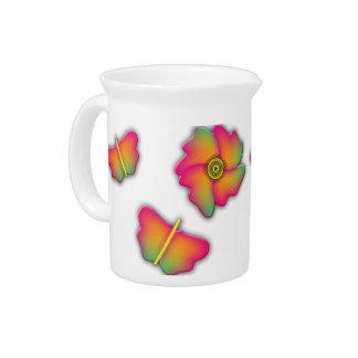 Butterflies & Flowers Pitcher