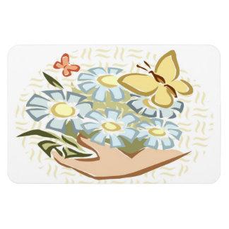 Butterflies & Flowers - Premium Magnet