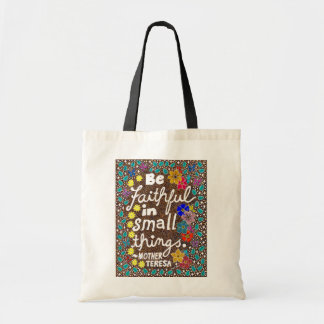 Butterflies Flowers Small Things Typography Quote Tote Bag