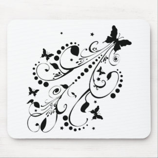 Butterflies Flowers Stars Mouse Pad