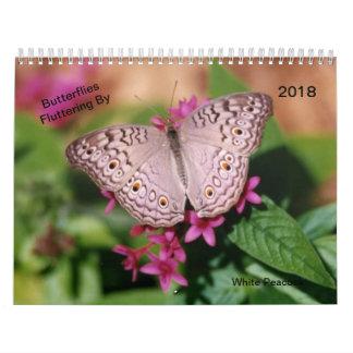 Butterflies Fluttering By Calendar