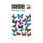 Butterflies Fluttering By Postage