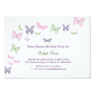 Butterflies Fluttering Sweet Sixteen Card