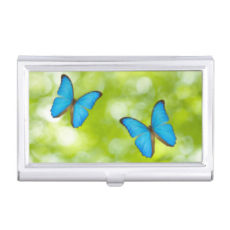 Butterflies flying case for business cards