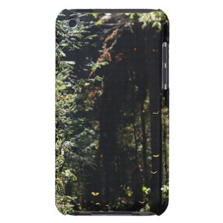 Butterflies flying in forest iPod touch cover