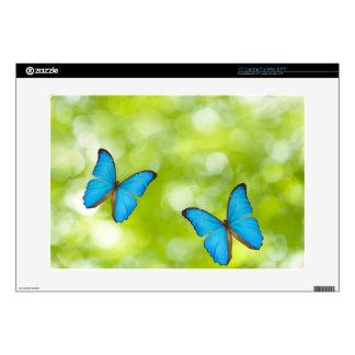 Butterflies flying laptop decals