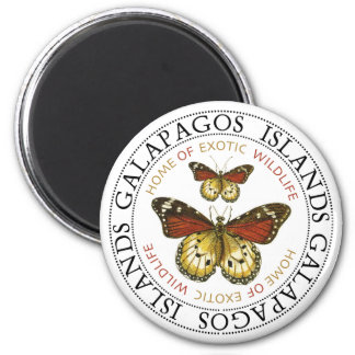 Butterflies Galapagos Islands 2 Inch Round Magnet