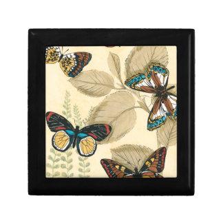 Butterflies Gliding Over Leaves Keepsake Box