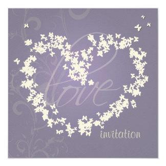 Butterflies heart/invitations card